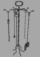 fireplace tool set 3d 3ds