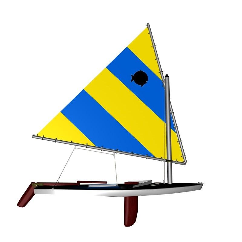 alcort sunfish 3d model