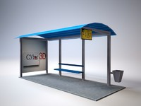 Bus Stop low poly