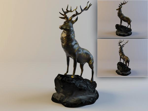 max figurine red deer