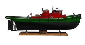 3d tugboat model