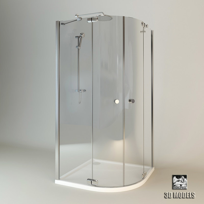 3d shower cabin huppe