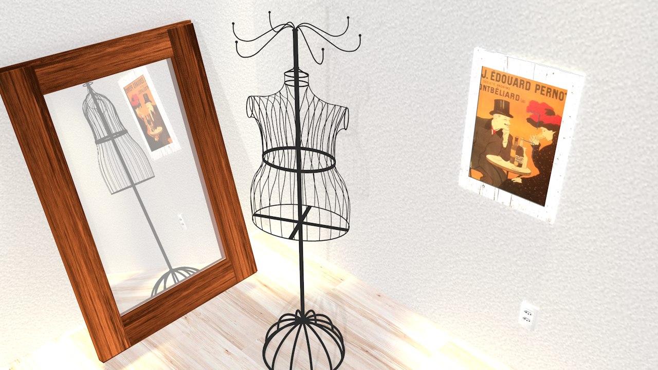 3dsmax vintage hanger