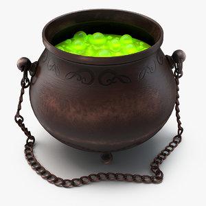 witch s cauldron 3d model