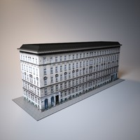 city old building low poly