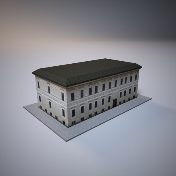 3ds max city old building