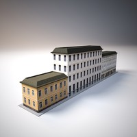 old city building low poly
