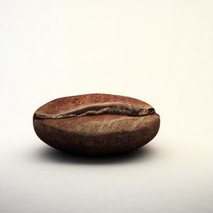 3d coffee bean model