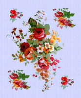 fabric with flowers patern 1