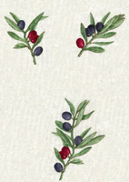 fabric with patern olives