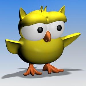 ursula owl 3d model