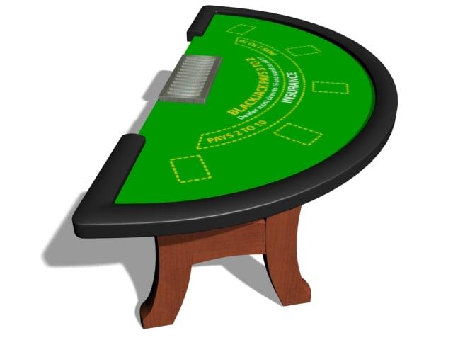 3d blackjack table model