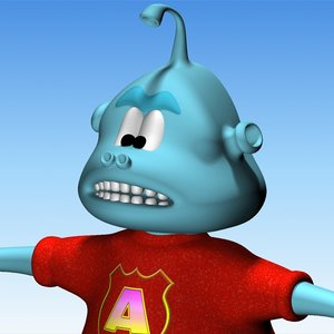 3d allen alien character