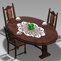 3dsmax dining room table cloth