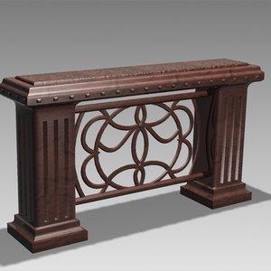 antique bar desk 3d max