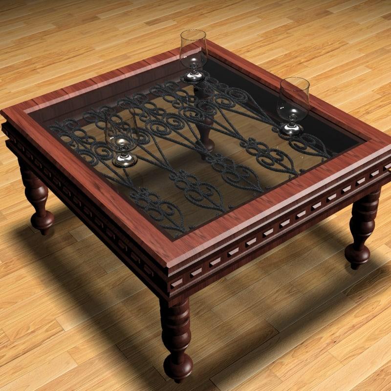 antique table 3d max