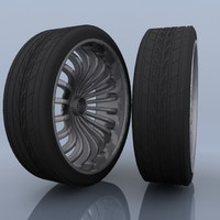 3d model automobile tires