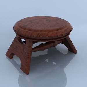 3d small chair