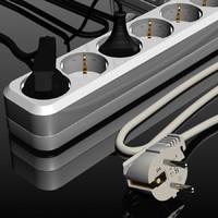 multi plug 3d model