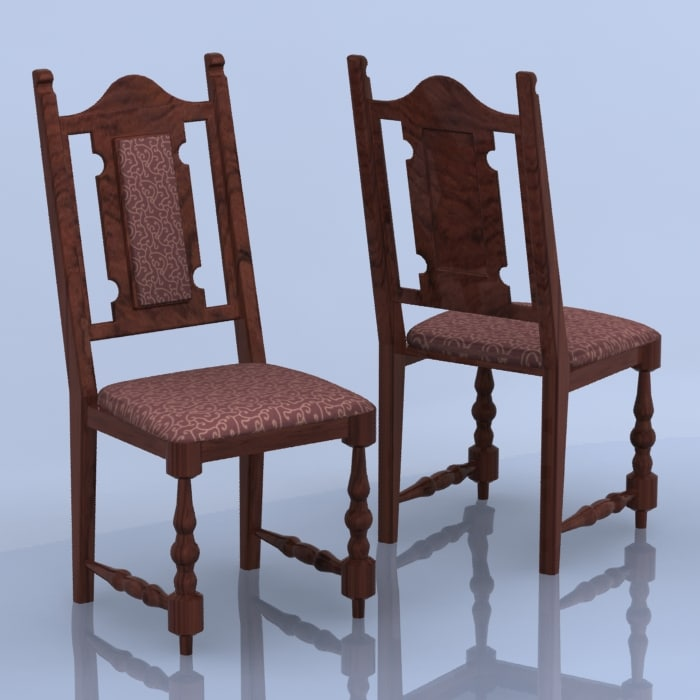 3d old chair