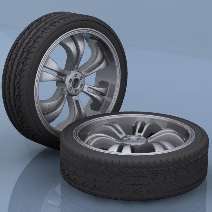 3d automobile tires model