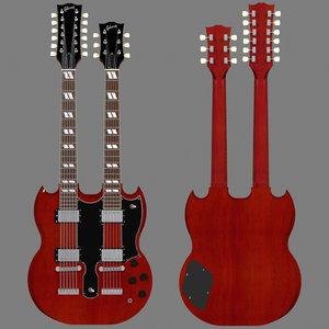guitar finish double 3d model