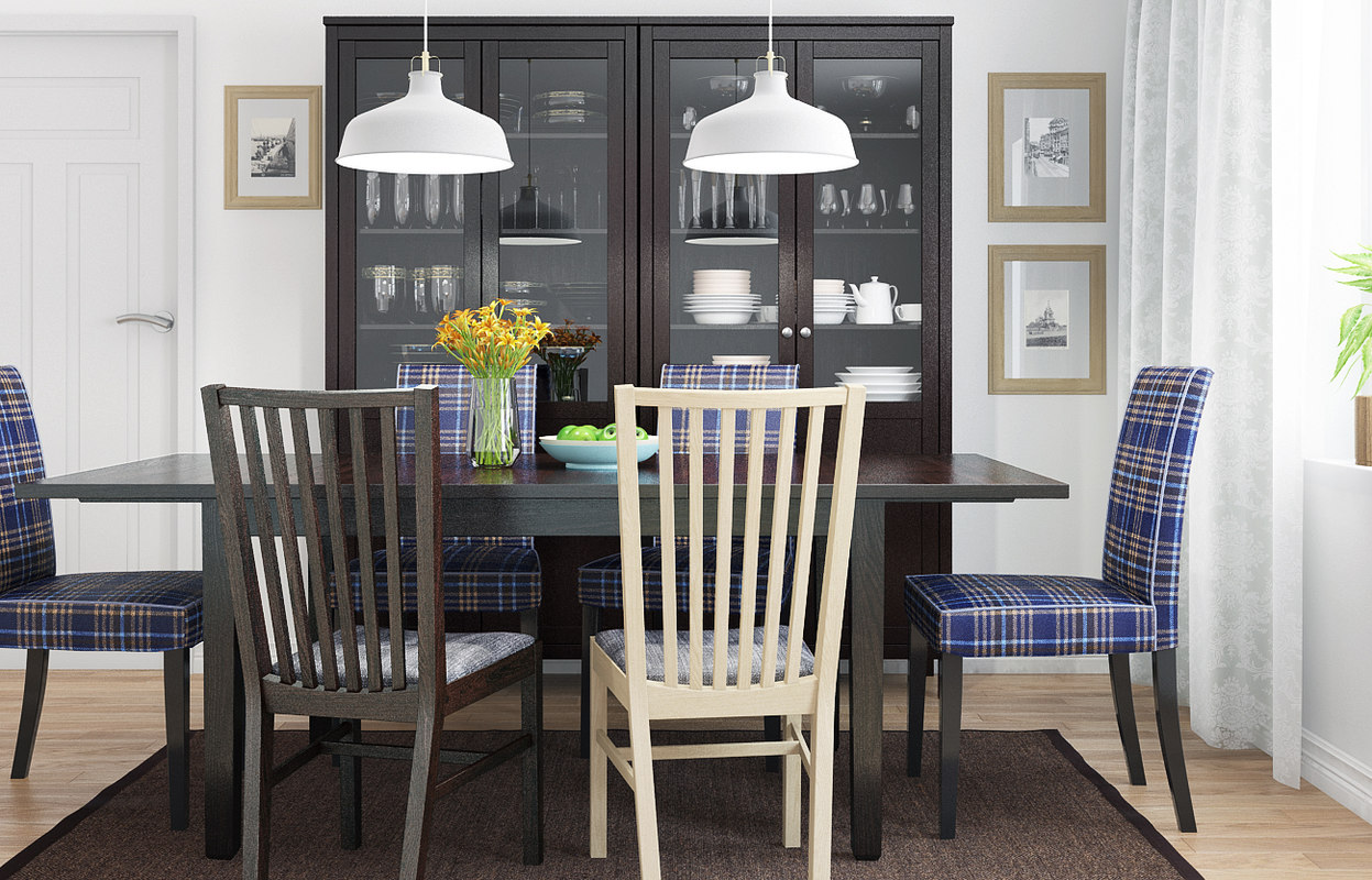 3d model ikea henriksdal dining room