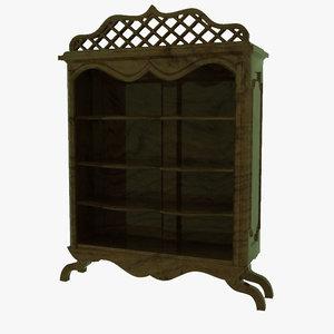 3d model antique shelves