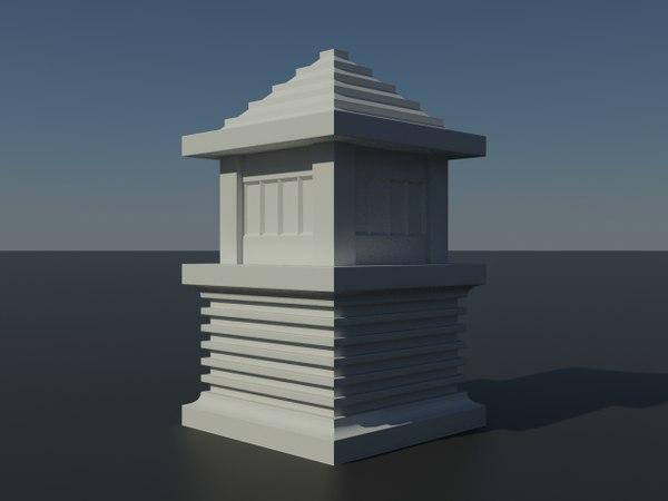 3ds outdoor pedestal