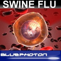 3d swine flu virus model