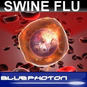 3d swine flu virus model