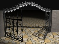 3d model of iron gate