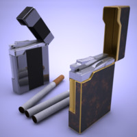 3d model lighter set