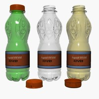 plastic pet bottles 3d model