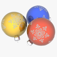 3d christmas ornamental ball model