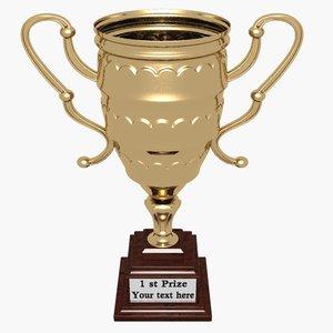 gold trophy 3d model