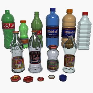 3d bottles labels