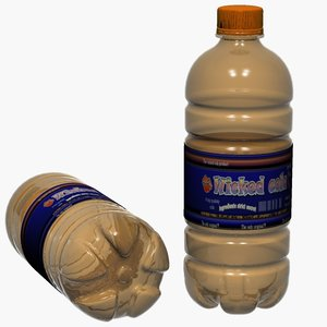 3d plastic pet bottles model