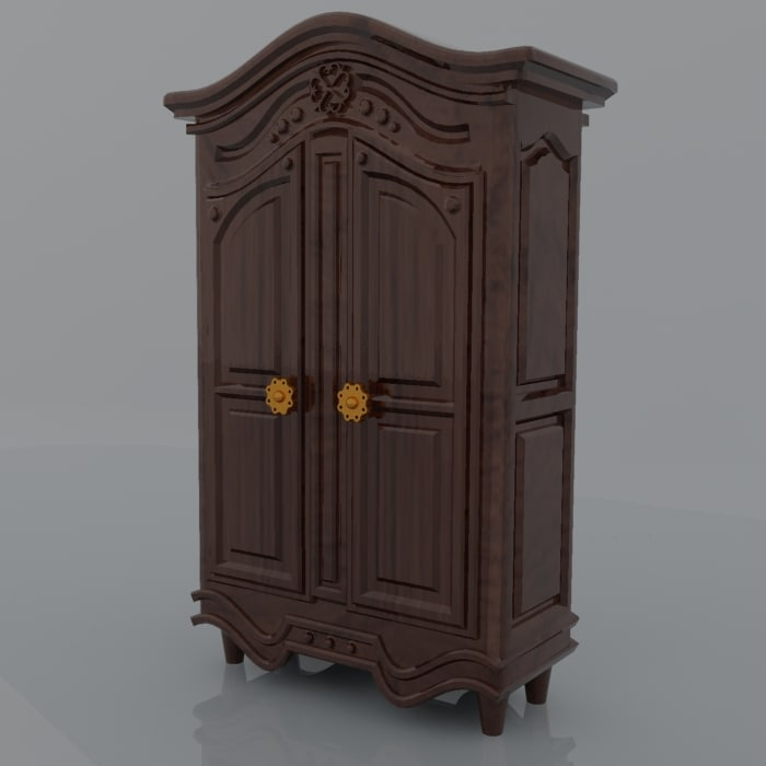 wardrobe antique 3d max
