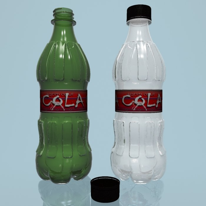 plastic pet bottles 3d max