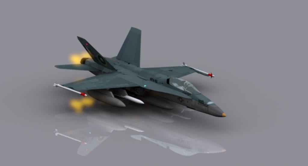 3d model of hornet military