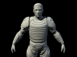normal soldier 3d ma