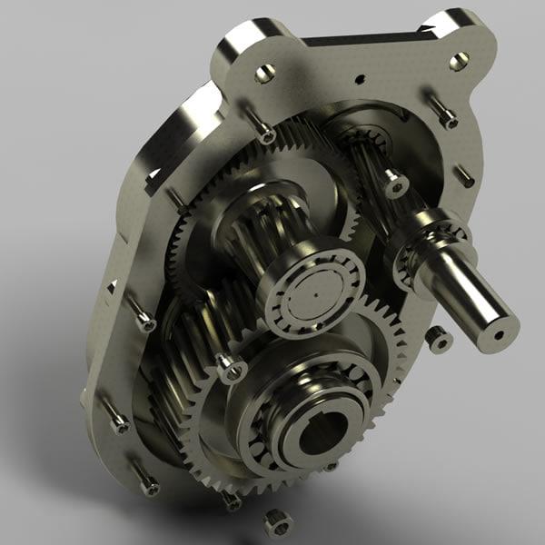 3d model motor gear set