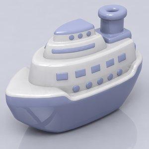 3d ship toy model