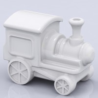 Porcelain Train Figure