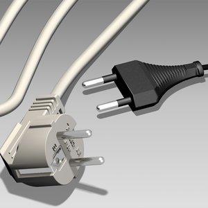 electric plug 3d model