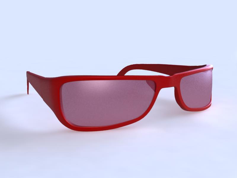 3ds max eye glass