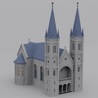 christian catholic church 3d model
