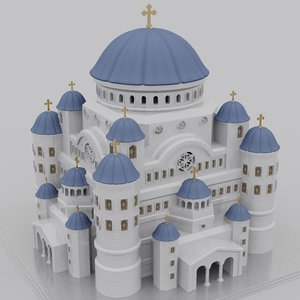 3d christian orthodox temple