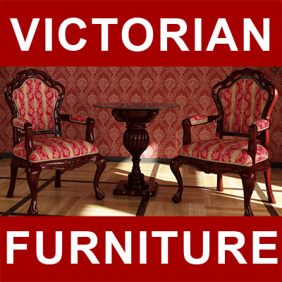3dsmax victorian furniture chair table